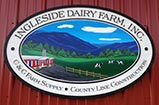 Photo of the Ingleside Dairy farm sign.