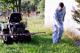 Photo of pesticide applicator